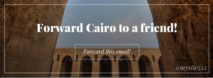Forward Cairo to a Friend